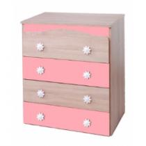 Συρταριέρα Daizy Oak/Ροζ