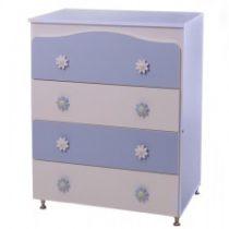 Συρταριέρα Daisy Λευκό/Γαλάζιο