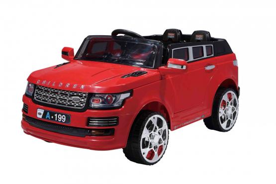 jeep με τηλεχειρηστήριο κόκκινο
