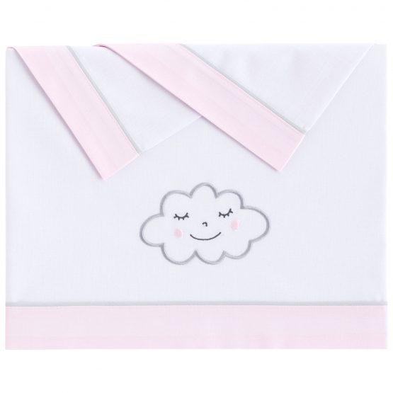 Σέτ σεντόνια κούνιας Nuvola pink