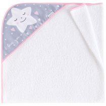 Πετσέτα/κάπα μπάνιου star pink