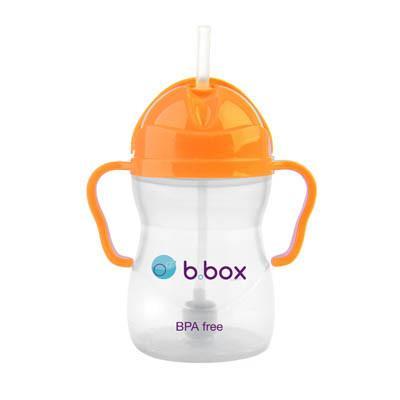 Ποτηράκι με καλαμάκι b.box orange