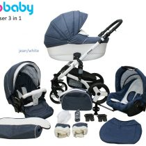 Kαρότσι Probaby Cruiser 3 in 1 denim/white