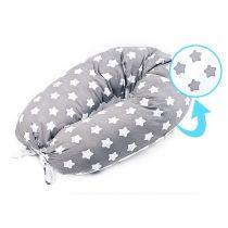 Mαξιλάρι θηλασμού/εγκυμοσύνης sensillo XL  grey/stars