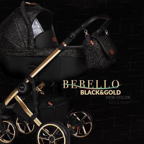 Καρότσι Bebello 3 in 1  black/gold